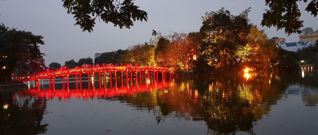 le pont The Huc, Hanoi